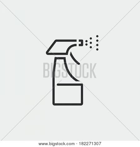 Spray bottle icon. Spray Pistol Cleaner Plastic Bottle