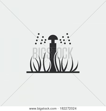 Garden automatic sprinkler sign simple icon on background