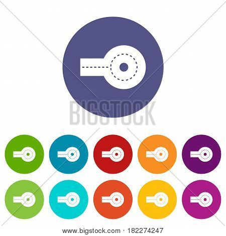 Circular impasse icons set in circle isolated flat vector illustration