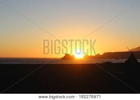 sun set, nightfall, sundown, eve, twilight, crepuscular light, sun fall