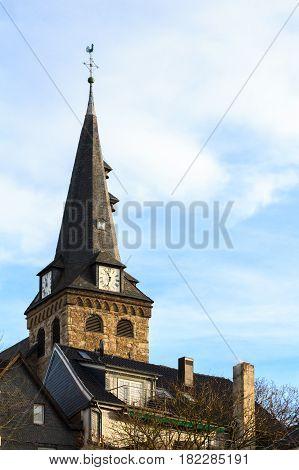 Evangelical market church in Essen-Kettwig. NRW. Germany