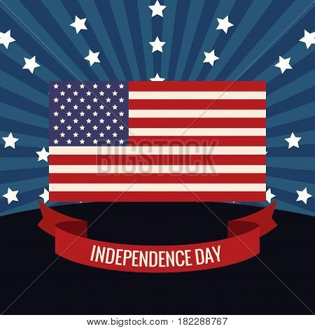 independence day flag USA image vector illustration eps 10