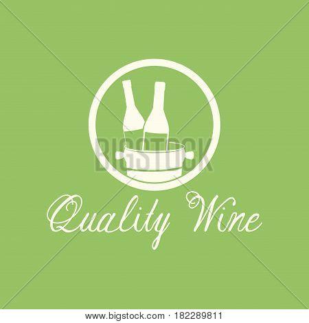 quality wine alcohol beverage image vector illustration eps 10
