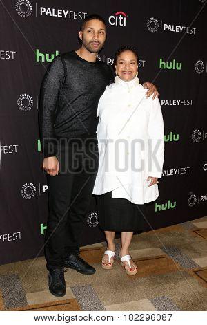 LOS ANGELES - MAR 19:  Norm Nixon Jr., Debbie Allen at the 34th Annual PaleyFest Los Angeles -