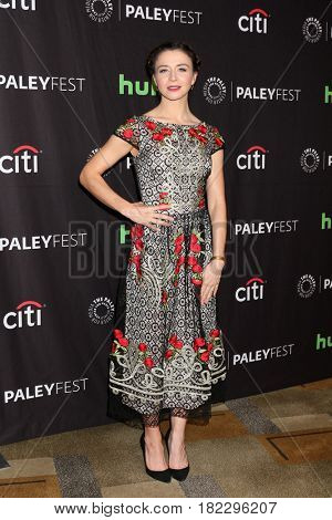 LOS ANGELES - MAR 19:  Caterina Scorsone at the 34th Annual PaleyFest Los Angeles -