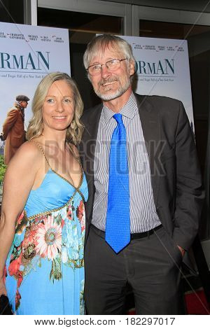 LOS ANGELES - APR 5: Lara J Sanders, Hans Joerg Neumann at the premiere of Sony Pictures Classics' 'Norman' at Linwood Dunn Theater on April 5, 2017 in Los Angeles, CA