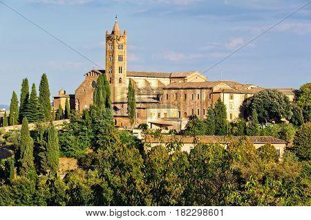 Santa Maria dei Servi from the Faccianote - Siena