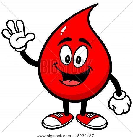A vector illustration of a cartoon Blood Drop.