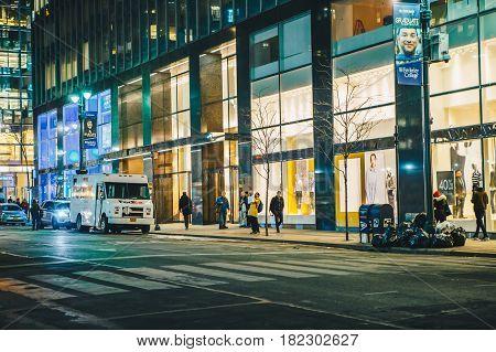 New York City USA - March 18 2017: New york citylife.