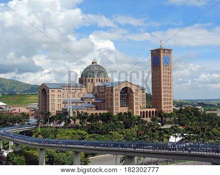 The view of the Basilica of Nossa Senhora Aparecida, Brazil