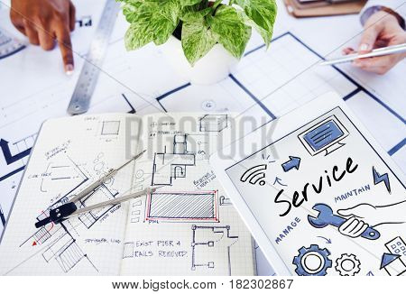 Interior Designer Plan Project Structure Concept