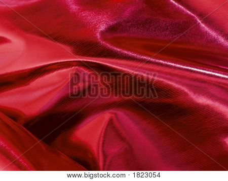Shiny Red Decoration Fabric