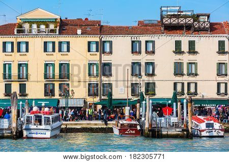 Promenade In Venice, Italy, Viewed From Lagoon