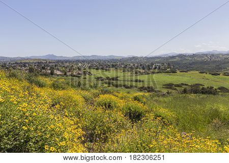 Spring view of Thousand Oaks in Ventura County, California.