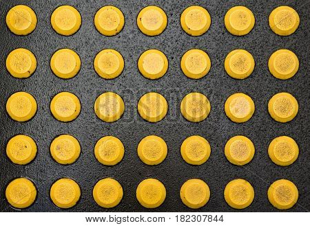 Abstract yellow bumps pattern background
