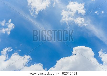 Beautiful sky with white cloud with copy space Cloudscape Clear Sky Overcast