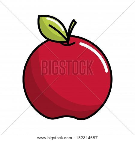 red apple fruit icon stock, vector illstration design image