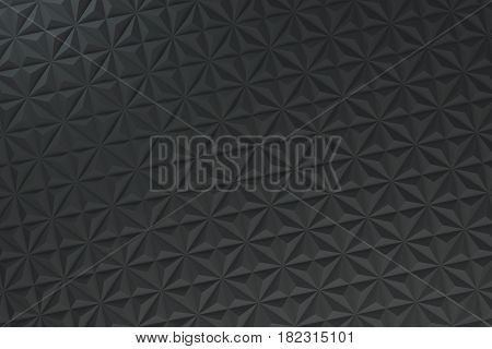 Pattern Of Black Pyramid Shapes