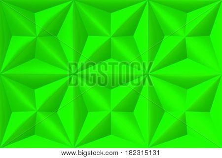 Pattern Of Green Pyramid Shapes