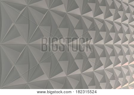 Pattern Of White Pyramid Shapes