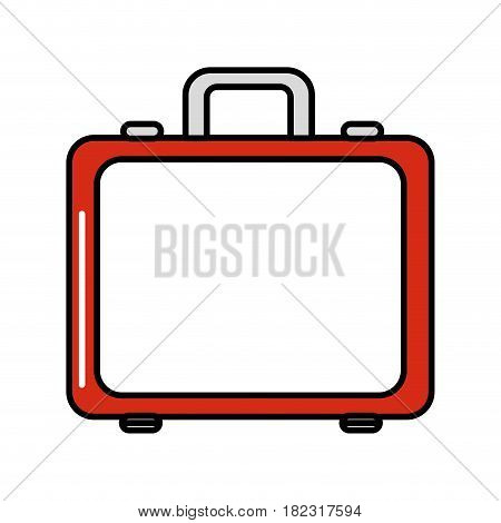 red first aid kit emergency, vector illustration