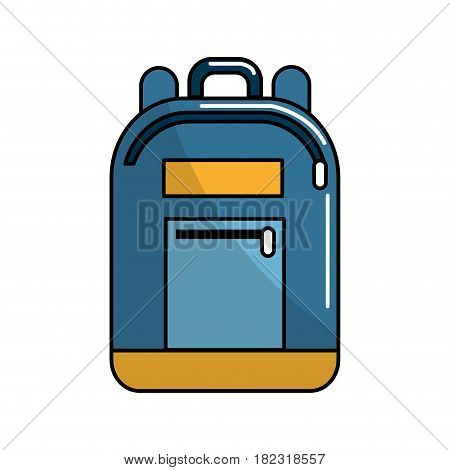 backpack tool to save thing and study, vector illustration