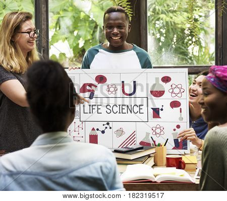 Life Science Biology Chemistry Concept