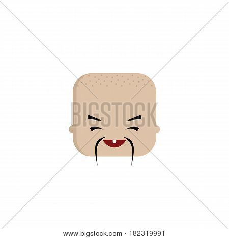 Square Shape Funny Expression Cartoon Head