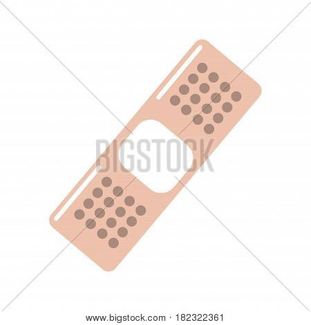 pink aid band emergency tool, vector illustraton