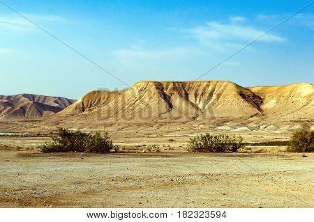Judean Mountains In The Desert