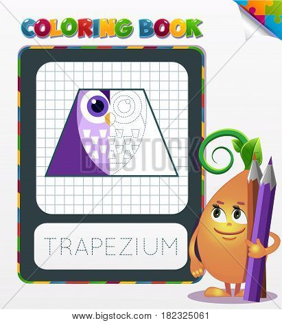 Coloring Book Geometric Form Trapezium