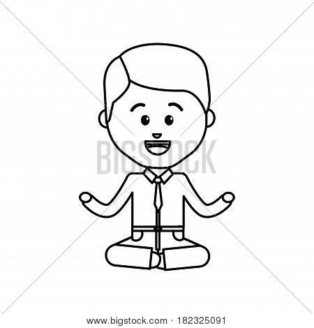 mental health elegant happy person, vector illustration