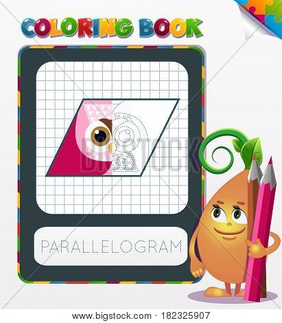 Coloring Book Parallelogram Geometric Form