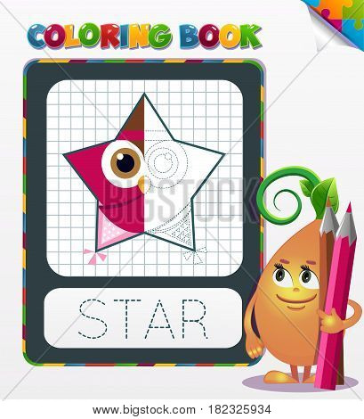Coloring Book Star Geometric Form
