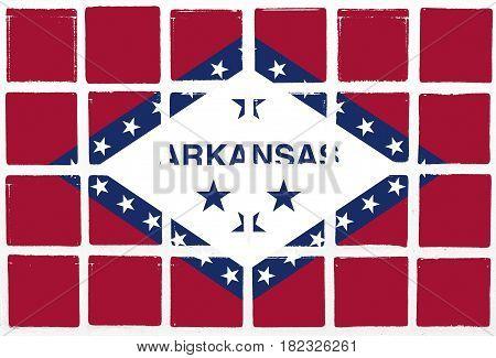 Glazed tiles arkansas flag texture design   square