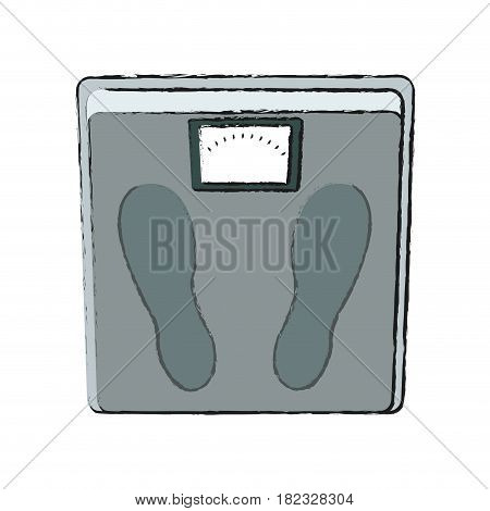 weight scale icon over white background. vector illustration