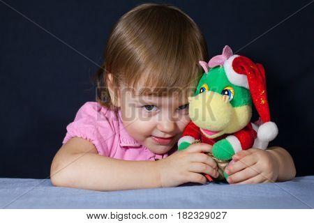 baby christmas clever dinosaur dragon girl glance play toy