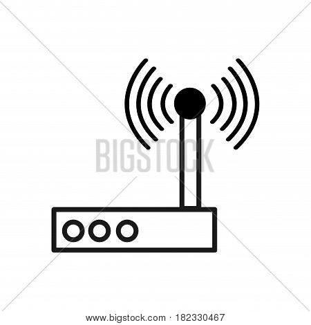 figure router connection wifi service icon, vector illustration