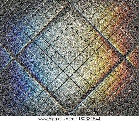 The solar spectrum is reflected in an unusual matte glass tile