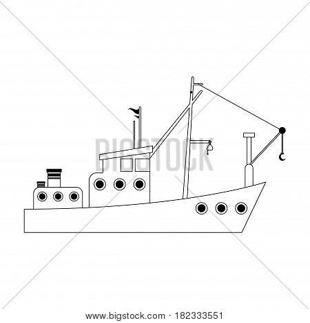 fishing boat icon image vector illustration design