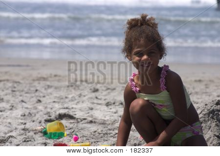 Taylor In The Sand