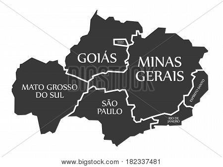 Mato Grosso Do Sul - Sao Paulo - Goias - Distrito Federal - Minas Gerais - Rio De Janeiro - Espirito