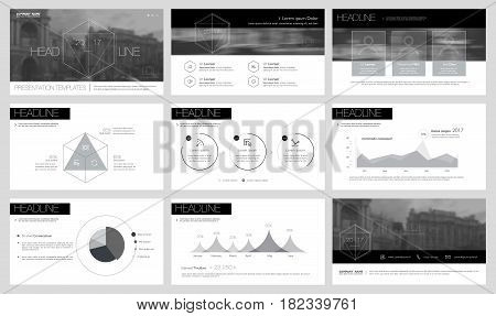 Black elements for infographics on a white background. Presentation templates. Use in presentation flyer and leaflet corporate report marketing advertising annual report banner.