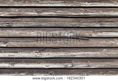 Dark Brown Weathered Wooden Wall