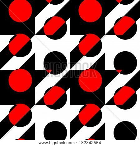 Seamless background pattern. Geometrical Hounds-tooth pattern in a polka dot pattern.