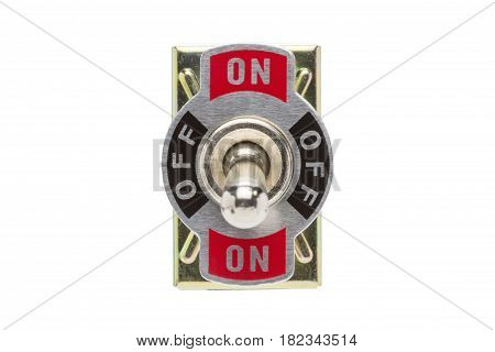 Toggle Switch isolated on white background.( With clipping path.)