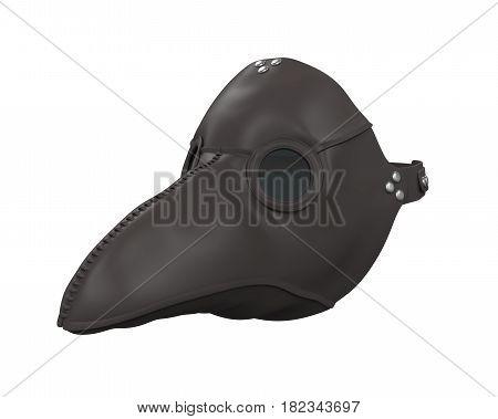 Plague Doctor Mask isolated on white background. 3D render