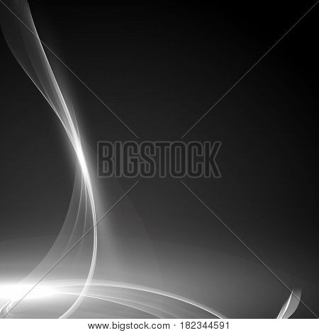 Abstract grayscale flame vector mesh background. Futuristic technology style. Elegant background for business presentations. Flying debris. eps10
