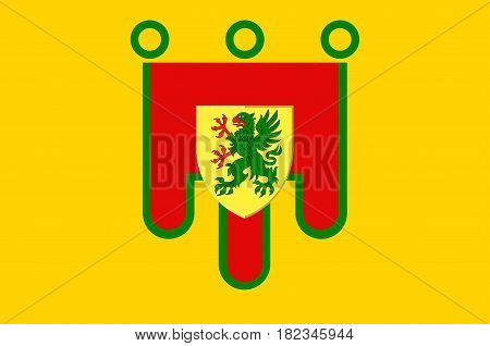 Flag of Puy-de-Dome is a department in the centre of France. Vector illustration