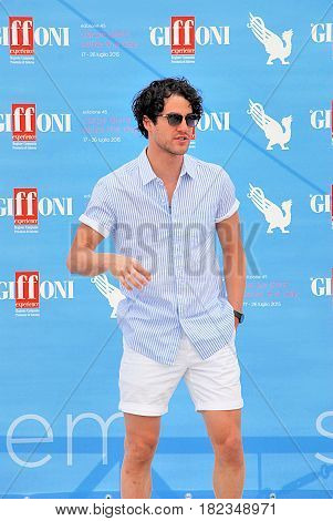 Giffoni Valle Piana Salerno Italia - 24 Luglio 2015 : Darren Criss al Giffoni Film Festival 2015 - il 24 Luglio 2015 a Giffoni Valle Piana Italia